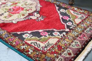 Vintage Mini Turkish Rug 23inx47in