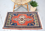 Vintage Mini Turkish Rug 2ftx3.4ft