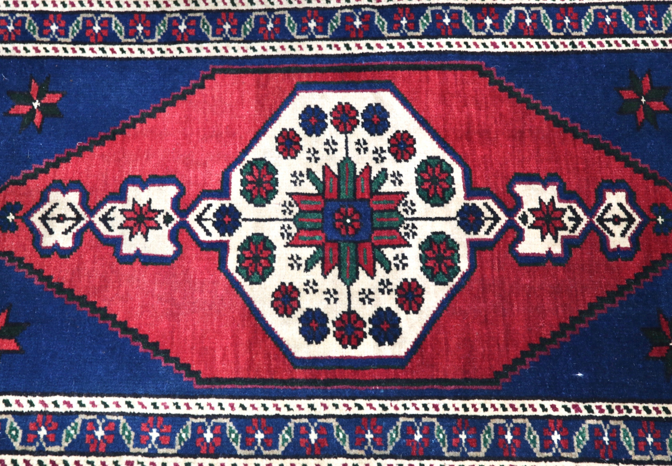 Vintage Mini Turkish Rug 1.10ftx3.6ft