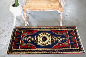 Vintage Mini Turkish Rug 23inx52in