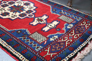 Vintage Mini Turkish Rug 24inx48in