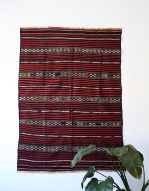 Old Bergama Yuncu Kilim 5.2x7.6ft