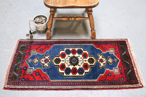 Vintage Mini Turkish Rug 1.9ftx3.9ft