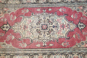 Vintage Mini Turkish Rug 25inx39in