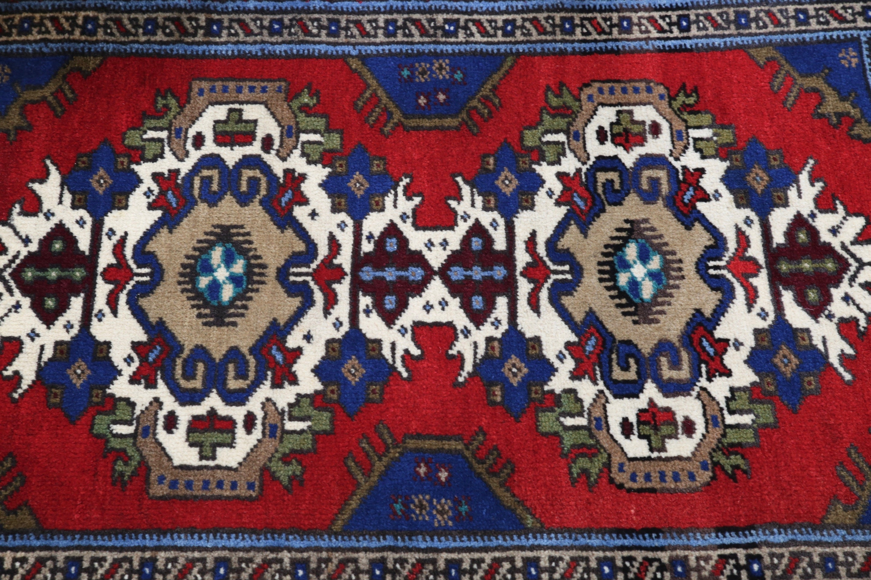Vintage Mini Turkish Rug 2ftx3.6ft
