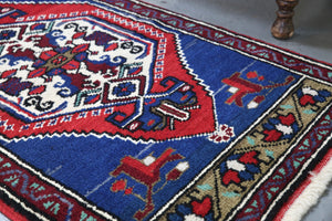 Vintage Mini Turkish Rug 1.10ftx3.4ft