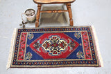Vintage Mini Turkish Rug 21inx41in