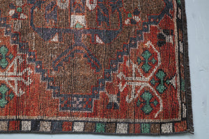 Vintage Anatolian Kurdish Runner 3.7ftx9.5ft