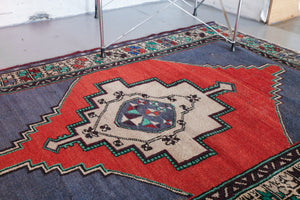 Old Turkish Anatolian Rug 3.6ftx4.10ft