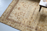 Old Turkish Anatolian Rug 5.8ftx10ft