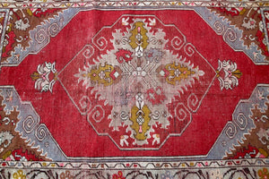 Vintage Turkish Kirsehir Rug 3.2ftx5.4ft