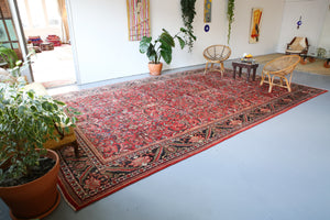 Old Persian Mahal style Turkish Rug 10.5ftx17ft