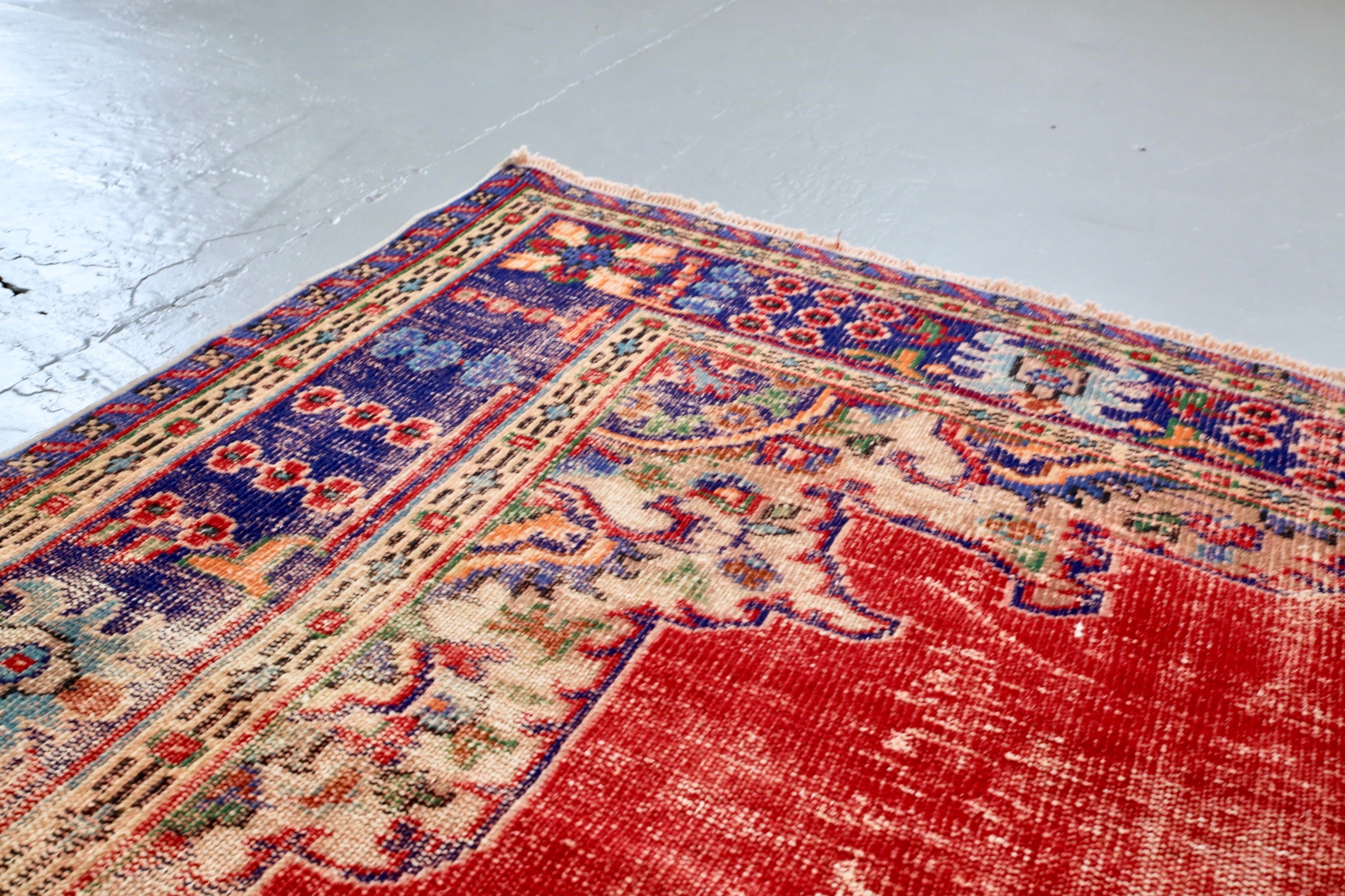 Old Demirci Oushak Rug 7.8ftx10.9ft