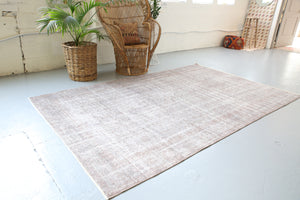 Vintage Overdyed Isparta Rug in Ash 5.10ftx9.4ft