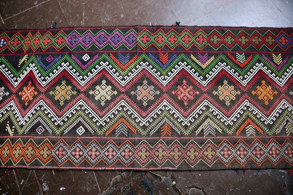 Old Sivas Kilim Runner 2.1ftx10.6ft
