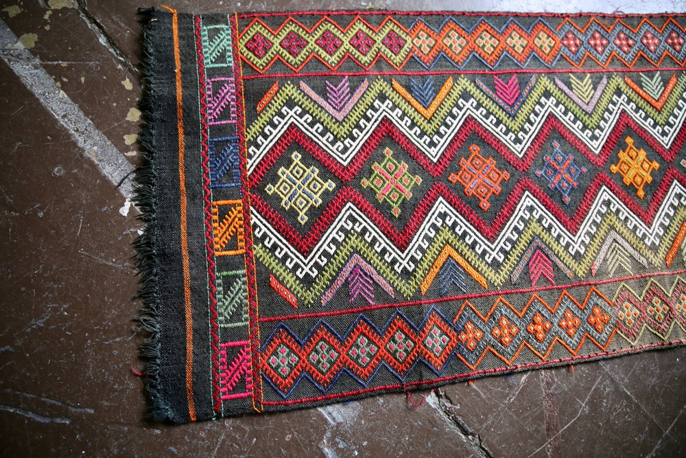 Old Sivas Kilim Runner 2ftx10.4ft