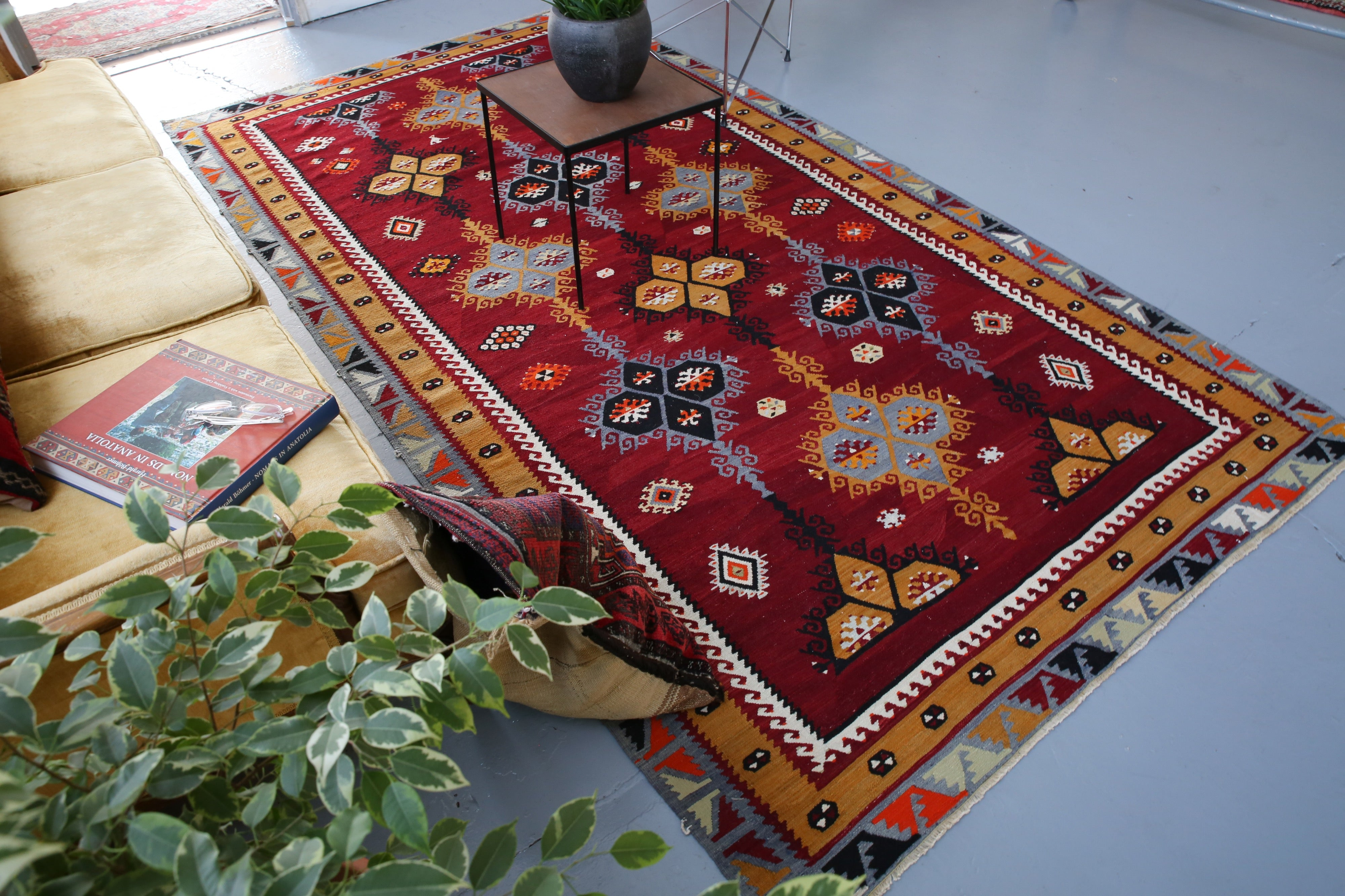 Old Sivas Sarkisla Kilim 5.4ftx9.10ft