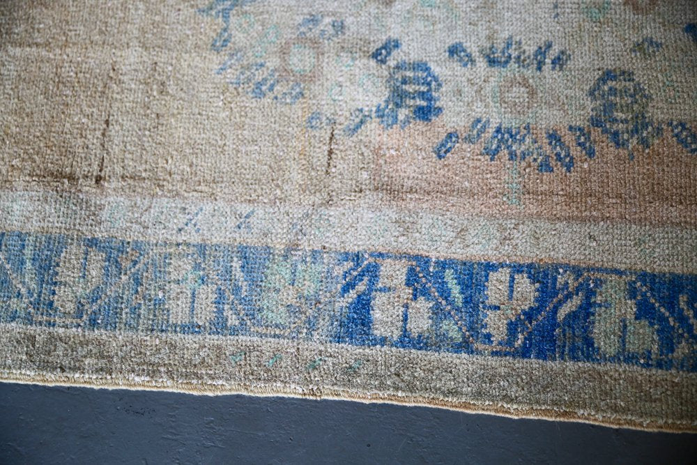 Vintage Southern Anatolian Faded Turkish rug 3.7ftx7ft