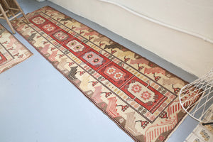 Old Milas Runner Rug 2.7ftx9.7ft