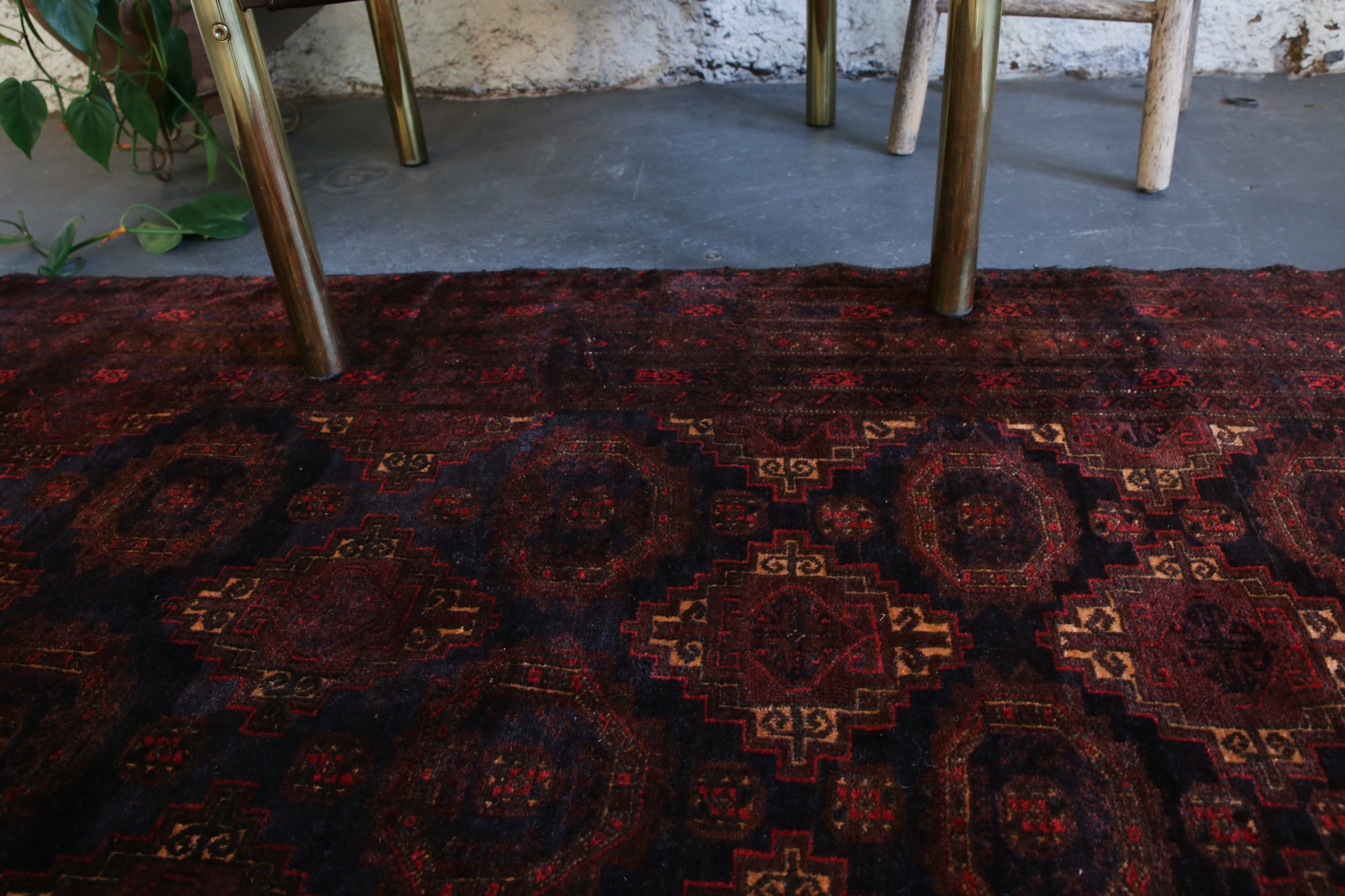 Antique Timurid Baluch Rug 4ftx6.9ft