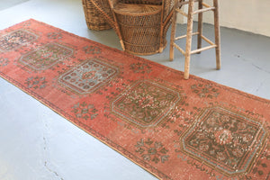 Old Konya Sille Runner Rug 3.4ftx10.5ft