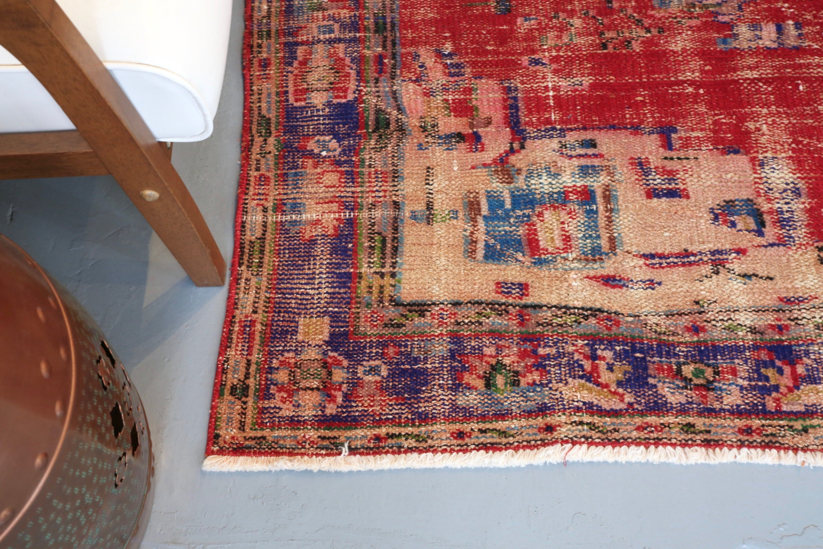 Old Demirci Oushak Rug 5.8ftx6.3ft