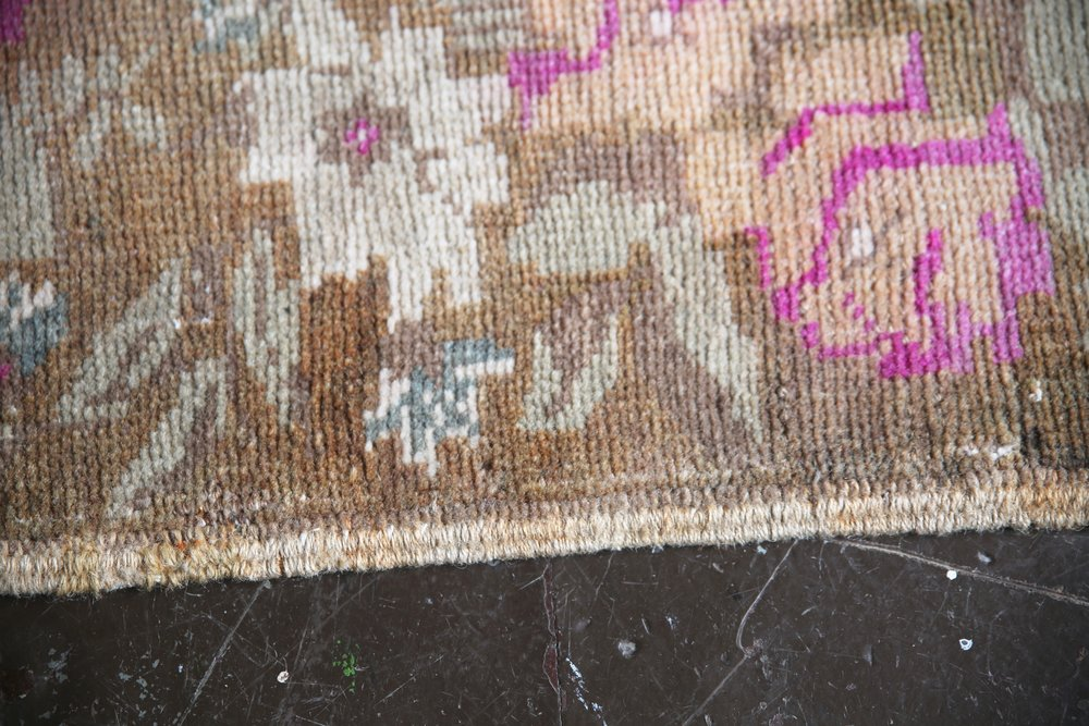 Vintage Faded Turkish Anatolian Rug 3.9x5.5ft