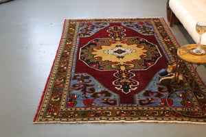 Old Anatolian Rug 4.6ftx7.3ft