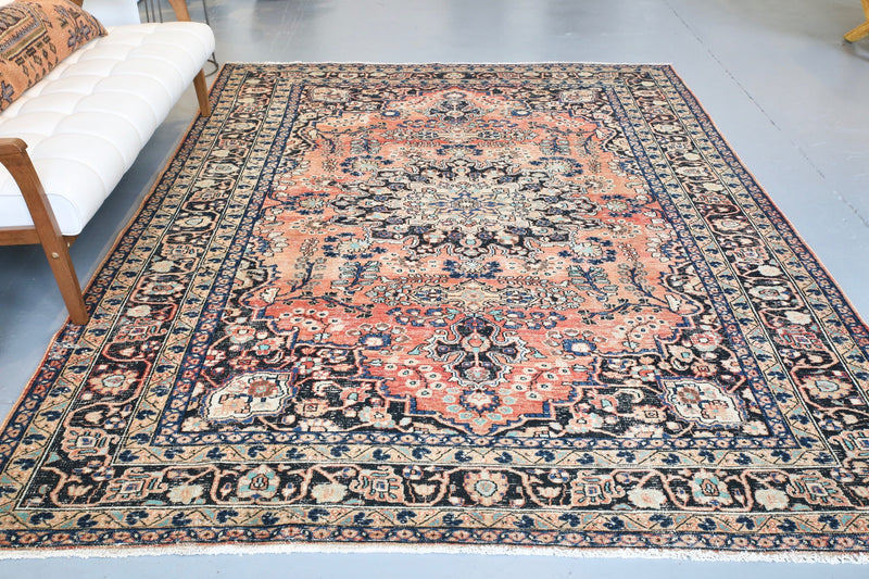 Old Anatolian Carpet 7ftx10ft