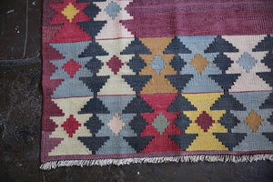 Old Milas Bencik Kilim 4.4ftx7.3ft