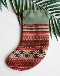 Christmas Stocking, kilim Christmas stocking, gif tables, holiday gift ideas, rug shop, Portland, Oregon, home accessories, kilim accessories, rug accessories,  Christmas gift ideas