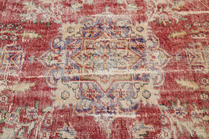 Old Demirci Oushak Rug 7.9ftx10.5ft