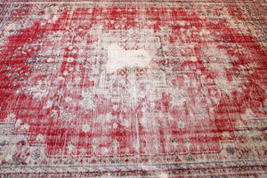 Old Demirci Oushak Rug 6.8ftx9.3ft