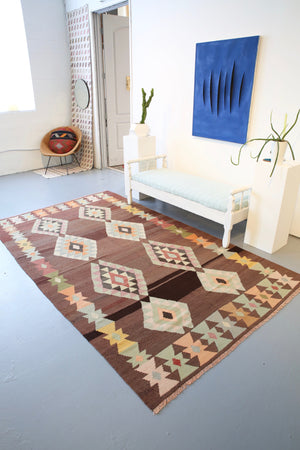 Old Milas Bencik Kilim 5.8ftx9.7ft
