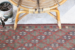 "Vintage Mini Turkish Kilim Rug 20""x40.5"""