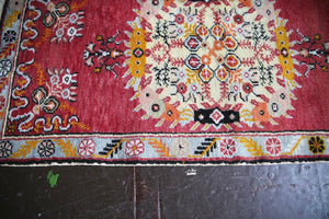 Vintage Turkish southern Anatolian Rug 2.8ftx5.6ft