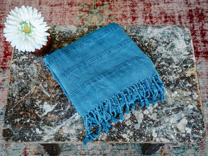 Rustic Pestemal in Indigo