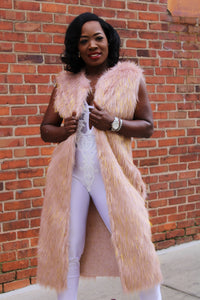 Tinsel Trench Faux Fur Vest