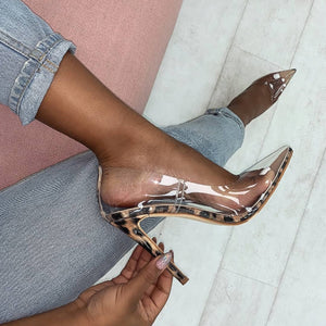 Works Everything Clear Pumps (Leopard)