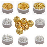 Plated Alloy Hollow Beads Charms