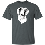 Curious Funny Dachshund Man, Woman, Unisex Cotton T-Shirt. Size from Small to  6XL
