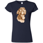 HAPPY DOBERMAN Funny Softstyle Ladies' T-Shirt