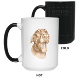 HAPPY DOBERMAN Funny  15 oz. Color Changing Mug