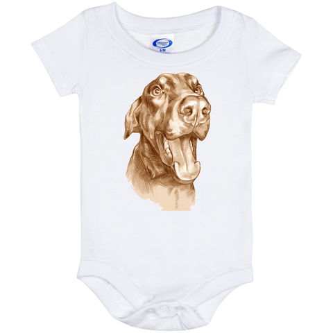 HAPPY DOBERMAN Funny Baby Onesie 6 Month
