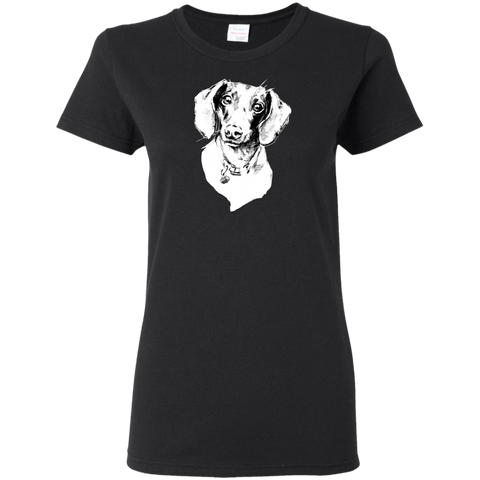 Dachshund Cotton Ladies' T-Shirt Bright Colors