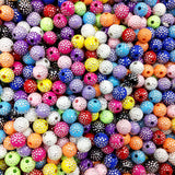 8mm Bright Shiny Round Acrylic Beads (100 Pcs)