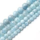 Natural Aquamarine Beads For Jewelry Making 15inches/strand 6/8/10/12mm beads