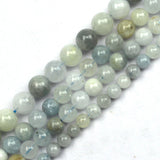 "Natural Aquamarine Beads Gemstone For DIY For Jewelry Making Strand 15"" 6mm-10mm"