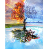 100% Full DIY 5D Diamond Painting Seasons Tree Cross Stitch Diamond Embroidery Patterns rhinestones Diamond Mosaic