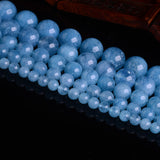 "Natural Aquamarine Loose Beads For DIY Jewelry Making 6mm-12mm about 15"" Strand"